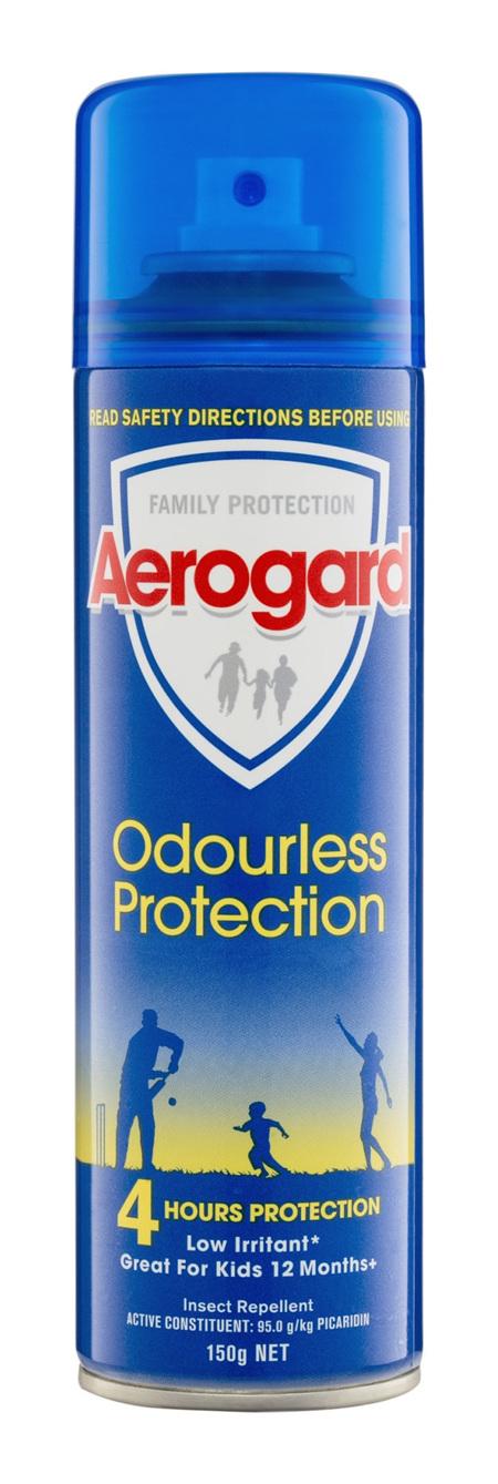 Aerogard Odourless Protection Insect Repellent Aerosol Spray 150g