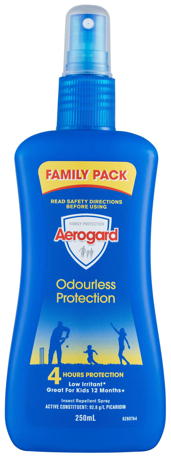 Aerogard Odourless Protection Insect Repellent Pump 250ml