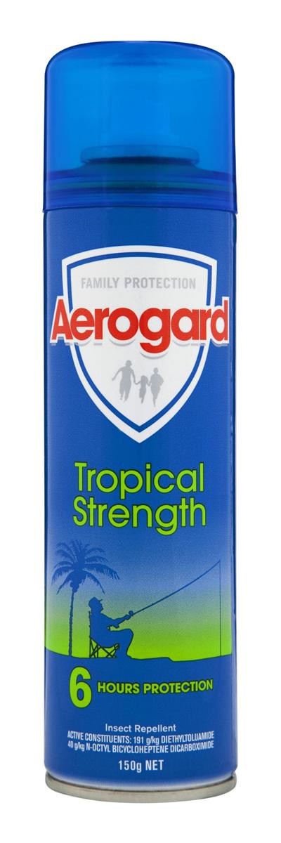 Aerogard Tropical Strength Insect Repellent Aerosol Spray 150g