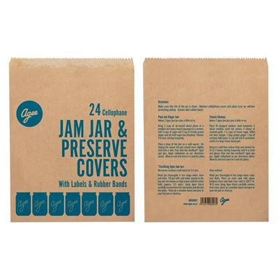 Agee Jam Jar and Preserve Covers 24pc