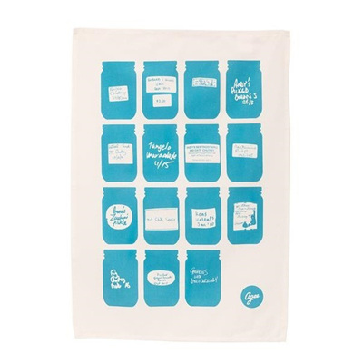 Agee Tea Towel Jars w Labels