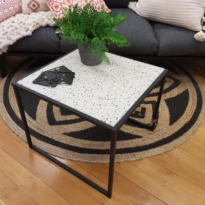Agnese Terrazzo Side Table 50x41cmh