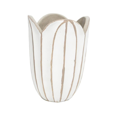 Agri Vase - Concrete Look - White - 20cmh