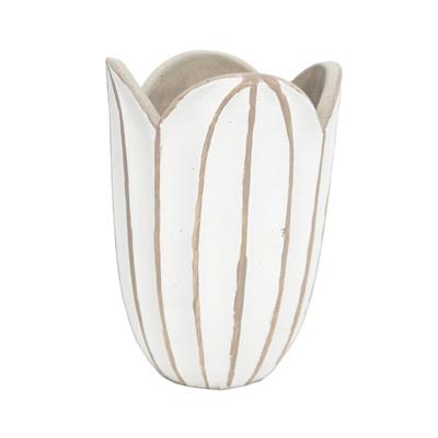 Agri Vase - Concrete Look - White - 20cmh