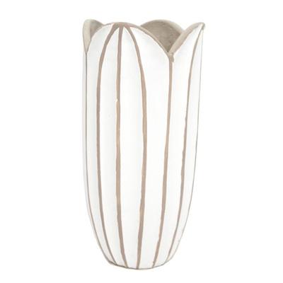 Agri Vase - Concrete Look - White 25cmh