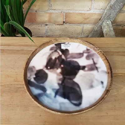 Ahanu Wooden Platter W Decal - 30cm