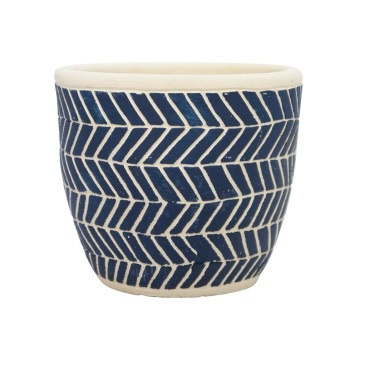 Ahoy Planter - Navy & White