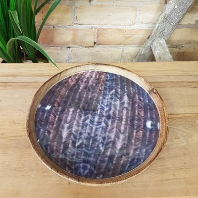 Ahusaka Wooden Platter W Decal