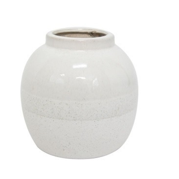Aiko Ceramic Vase - Off White 16cm
