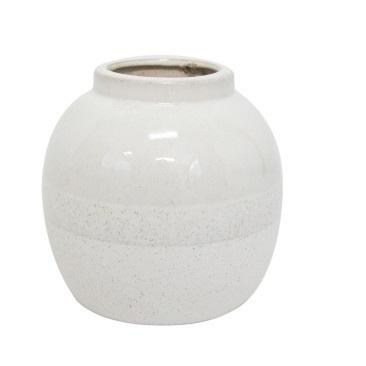 Aiko Ceramic Vase - Off White 16cm