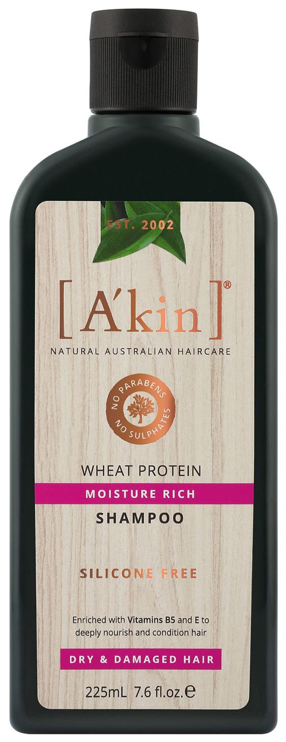 A'kin Moisture Rich Wheat Protein Shampoo 225mL