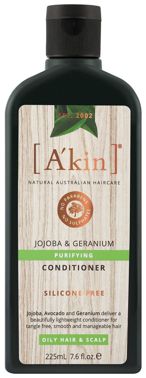 A'kin Purifying Jojoba & Geranium Conditioner 225mL