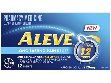 Aleve 12 hour Anti-Inflammatory Fast Acting 12 hour Pain Relief tablets 12 pack