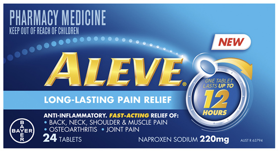 Aleve 12 hour Anti-Inflammatory Fast Acting 12 hour Pain Relief tablets 24 pack