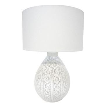 Aleyah Metal Table Lamp - White 68cmh