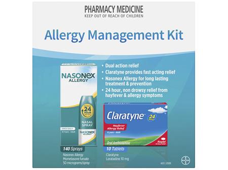 Allergy Management Kit with Claratyne 10 tablets and Nasonex Allergy 140 sprays
