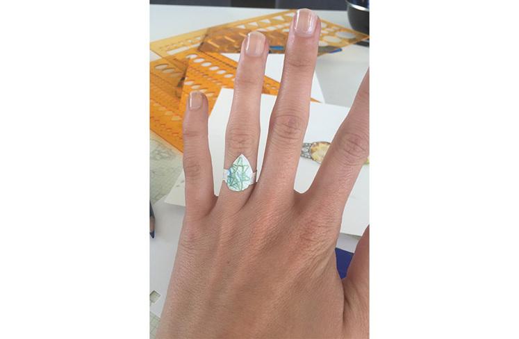 Allette's 'Paper Sketch' ring: