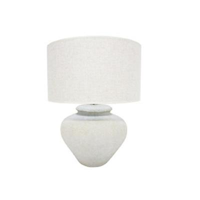 Amare Ceramic Table Lamp - Off White/57cmh
