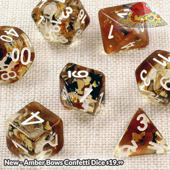 Amber Bows Confetti Dice Games and Hobbies New Zealand NZ