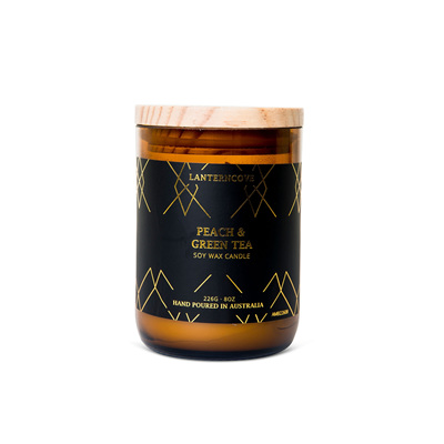 Amberesque - Peach & Green Tea Candle