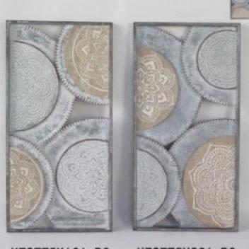 Amira Metal And Wood Wall Art