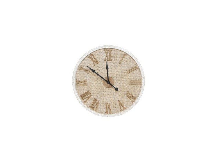 Amity Clock - Wooden Frame & Woven Detail 90cm