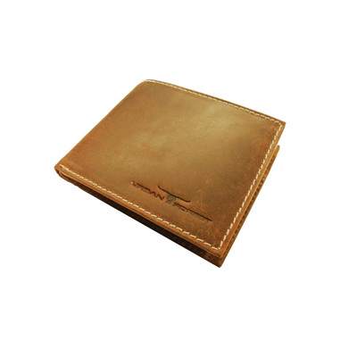 Amos Leather Wallet w/I.D Pocket - Cognac