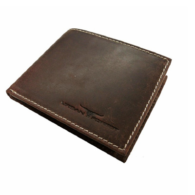 Amos Leather Wallet w/I.D Pocket - Nappa Brown
