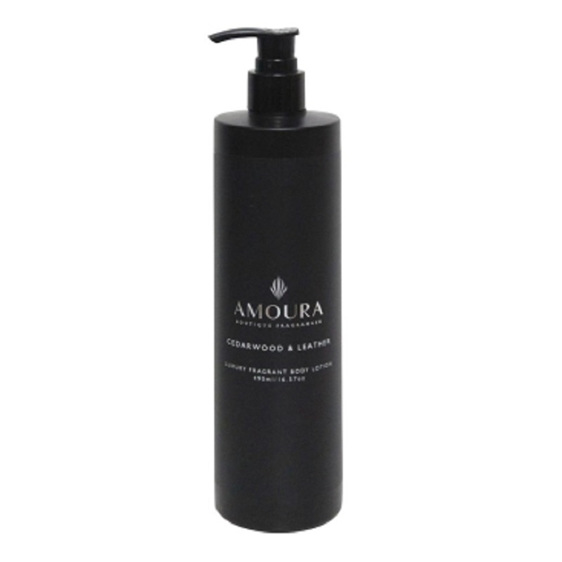 Amoura Ebony Body Lotion - Cedarwood & Leather