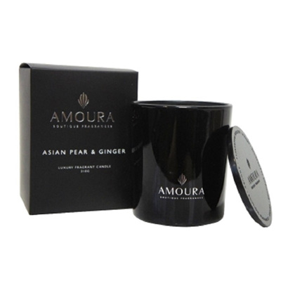Amoura Ebony Luxury Candle Lrg - Asian Pear & Ginger