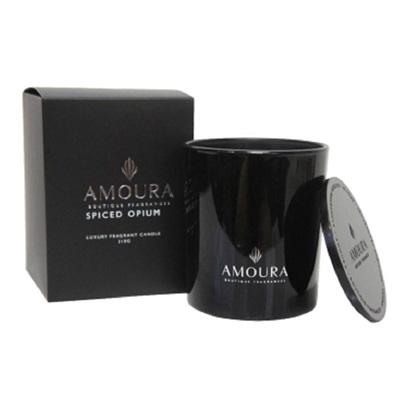 Amoura Ebony Luxury Candle Lrg - Spiced Opium