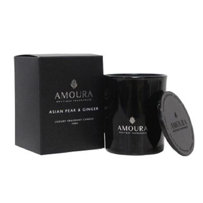 Amoura Ebony Luxury Candle Sml - Asian Pear & Ginger