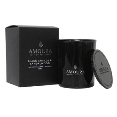 Amoura Ebony Luxury Candle Sml - Black Vanilla & Sandalwood
