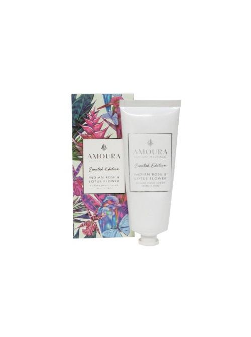 Amoura Hand Cream Indian Rose & Lotus Flower