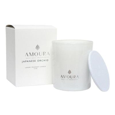 Amoura Ivory Luxury Candle Lrg - Japanese Orchid