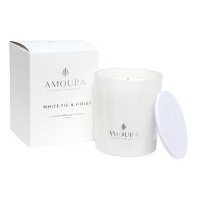 Amoura Ivory Luxury Candle Lrg - White Fig & Violet