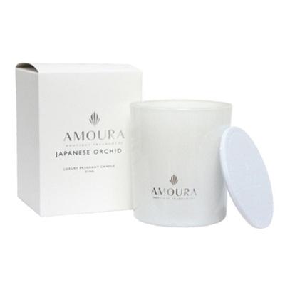 Amoura Ivory Luxury Candle Sml - Japanese Orchid
