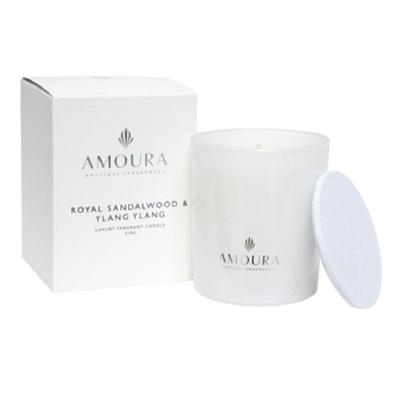 Amoura Ivory Luxury Candle Sml - Royal Sandalwood & Ylang Ylang