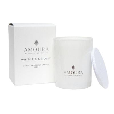 Amoura Ivory Luxury Candle Sml - White Fig & Violet
