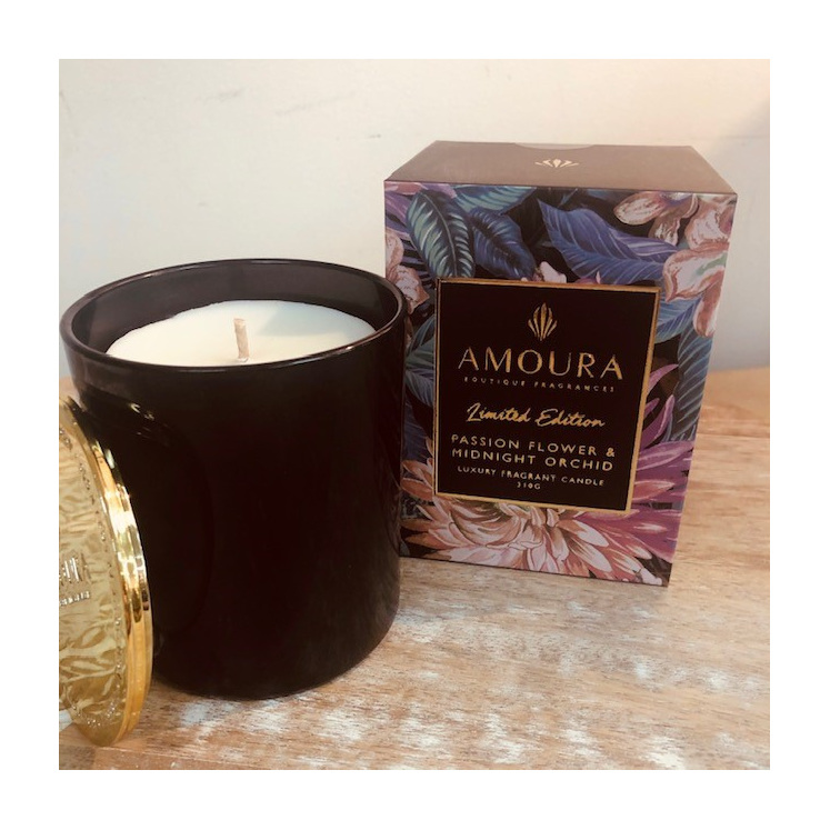 Amoura Passionflower & Midnight Orchid  Luxury Candle- L