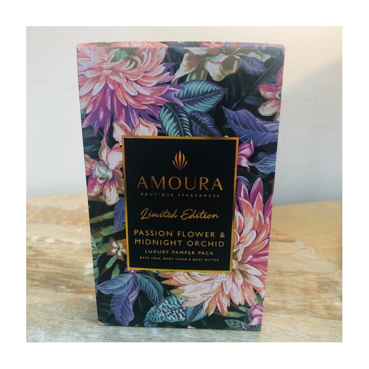 Amoura Passionflower & Midnight Orchid Pamper Pack