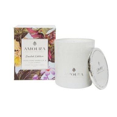 Amoura Tahitian Vanilla & Coconut Luxury Candle - L