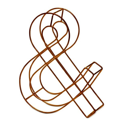Ampersand Copper Effect Wire Letter