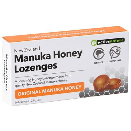 AN Manuka Honey Lozenges Lemon + Vit C 16s