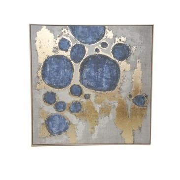 Anala Canvas Print W Foil - Natural Frame 100x100cm