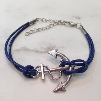 Anchor Bracelet - Navy WAS $8.90
