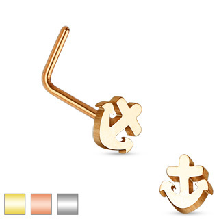 Anchor Top L Bend Nose Stud