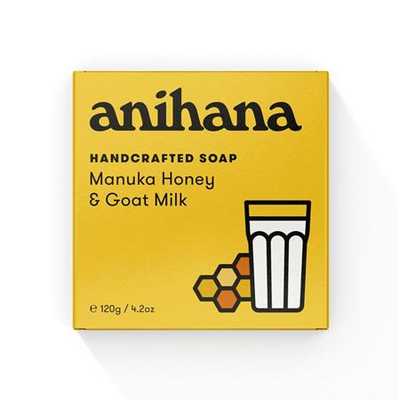anihana Soap M/Honey&G/Milk 120g