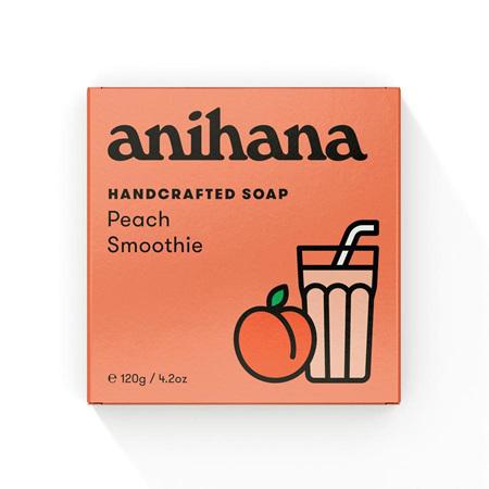 anihana Soap Peach Smthie Rect 120g