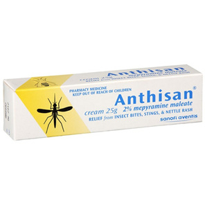 Anthisan 2% Mepyramine Maleate Cream 25gram Tube